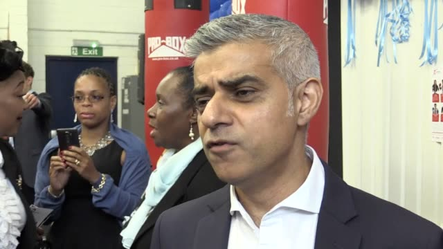the mayor of london sadiq khan and met police commissioner cressida dick launch a new knife crime strategy to tackle the rise in knife crime across... - sadiq khan stock videos and b-roll footage