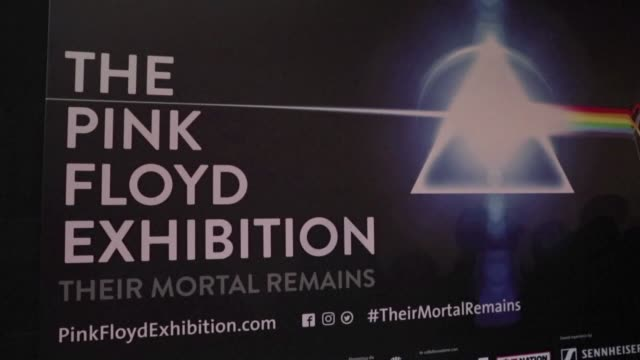 The mayor of Rome Virginia Raggi inaugurates a Pink Floyd exhibition along with the band's members Nick Mason and Roger Waters