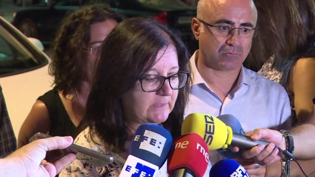 the mayor of the spanish resort town of cambrils gives a statement to the press after police shot dead five attackers some of whom they said were... - cambrils stock videos & royalty-free footage