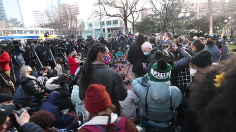 the media outside of the hennepin county government center before the start of the trial of former minneapolis police officer derek chauvin in... - live broadcast stock videos & royalty-free footage