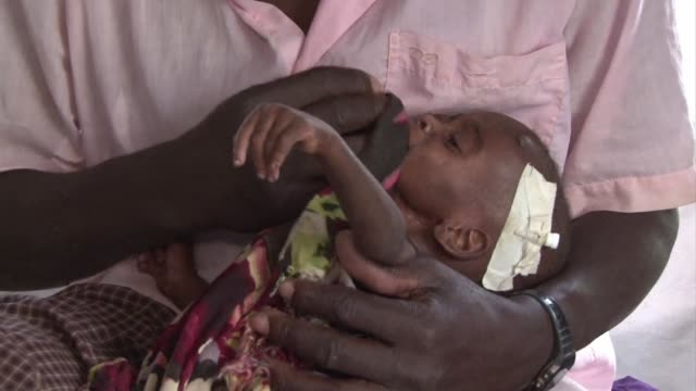 the medical charity medecins sans frontieres says children in the dadaab refugee camps that have arrived in recent months are more malnourished than... - horn von afrika stock-videos und b-roll-filmmaterial