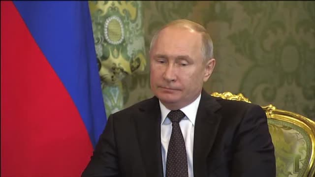 """stockvideo's en b-roll-footage met the meeting between russian and turkish presidents has begun in moscow. """"we are pleased to welcome you to moscow and today we will open and hold the... - moscow russia"""
