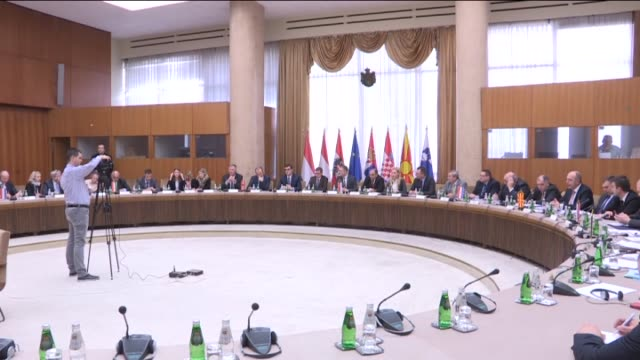 the meeting of police directors and heads of border police administrations of austria croatia slovenia serbia macedonia hungary and netherlands and... - europäische kommission stock-videos und b-roll-filmmaterial