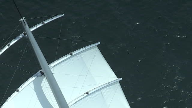 The Mega Sailing Yacht Maltese Falcon Speeds Up After The