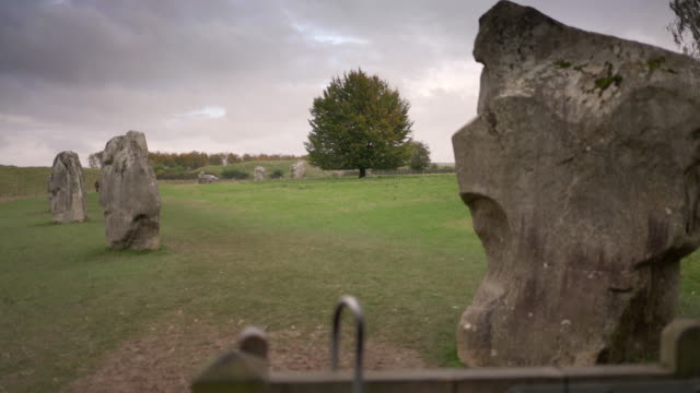 the megalithic stones at avebury, wilshire, uk - avebury stock videos & royalty-free footage