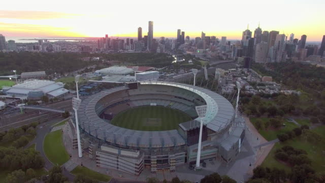 the melbourne cricket ground at sunset, mcg melbourne. - david ewing stock videos & royalty-free footage