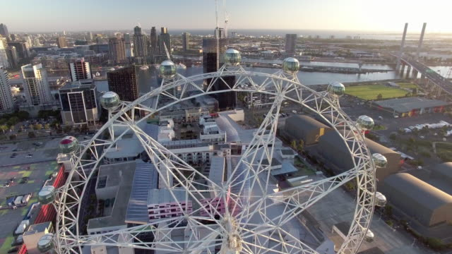 the melbourne star giant ferris wheel, docklands melbourne. - david ewing stock videos & royalty-free footage