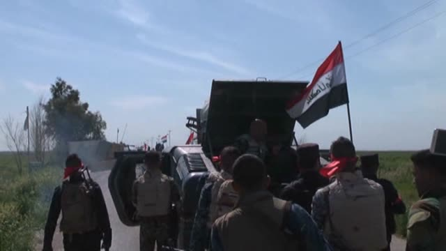 the members of shiite alhashd alshabi units have seized control of the turkmen village of bashir located 25 kilometers south of kirkuk during the... - shi'ite islam stock videos & royalty-free footage