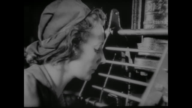 wwii the men and women of the british factories continue to make munitions to arm the planes against germany - ammunition stock videos & royalty-free footage