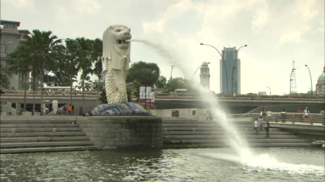 the merlion: dolly. - merlion fictional character stock videos and b-roll footage