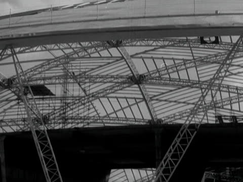 the metal framework of the dome of discovery at the festival of britain site on the south bank of the thames - festival of britain stock videos & royalty-free footage