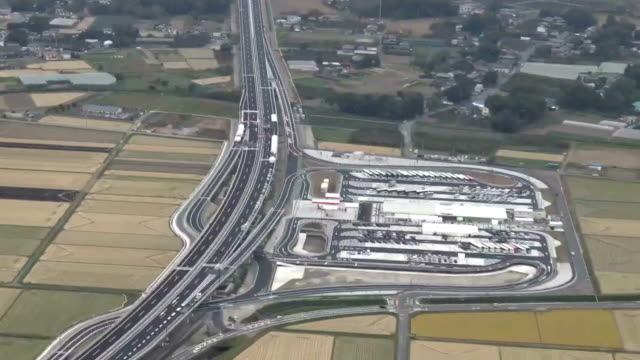the metropolitan inter‐city expressway situated at the furthermost outer ring of the capital region three loop roads has opened its saitama... - saitama prefecture stock videos & royalty-free footage