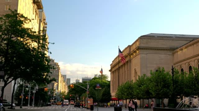 the metropolitan museum of art, 5th avenue - metropolitan museum of art new york city stock videos & royalty-free footage