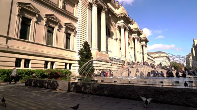 the metropolitan museum of art - metropolitan museum of art new york city stock videos & royalty-free footage