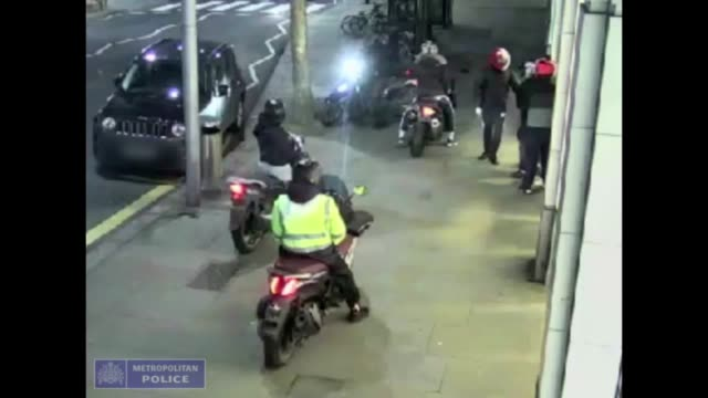 the metropolitan police have released cctv footage of a 'moped gang' who were involved in burglary in west london, where they are seen stealing... - stealing crime stock videos & royalty-free footage
