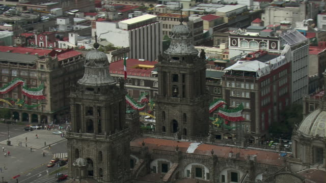 The Mexico City Metropolitan Cathedral in Arms Square, Mexico City.