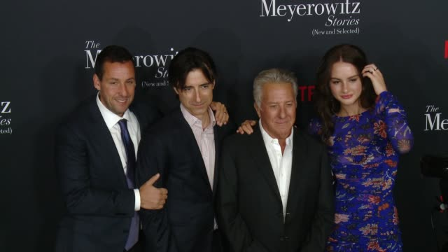 """the meyerowitz stories """" los angeles special screening at directors guild of america on october 11, 2017 in los angeles, california. - アメリカ監督組合点の映像素材/bロール"""