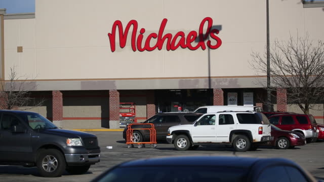 the michaels companies inc is scheduled to release earnings figures on march 17 michaels arts and crafts retail store in louisville kentucky us on... - report document stock videos & royalty-free footage