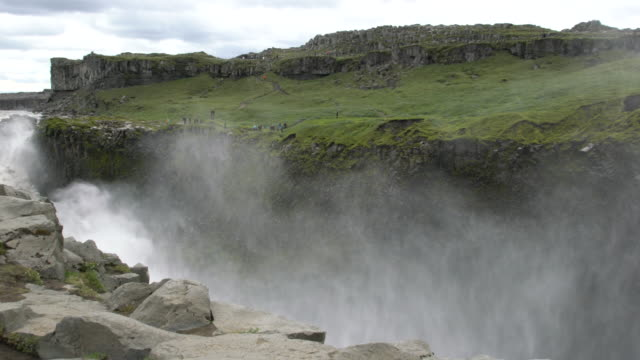 The mighty  Dettifoss  waterfall  in Vatnajökull National Park, Iceland  in summertime
