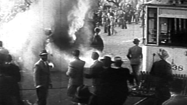 the military takes control of the government in argentina in a coup d'etat in june 0f 1943 castillo is ousted general ramirez is inaugurated street... - coup d'état stock videos & royalty-free footage