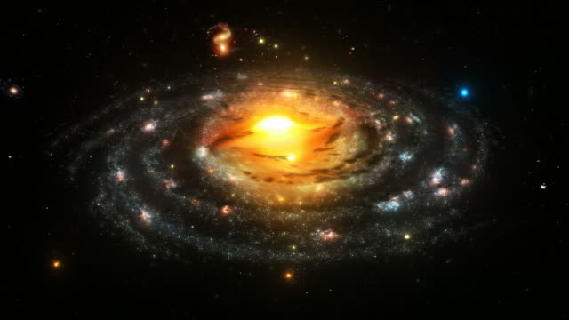 The Milky Way. Spiral Galaxy. Loopable. Astronomy background.