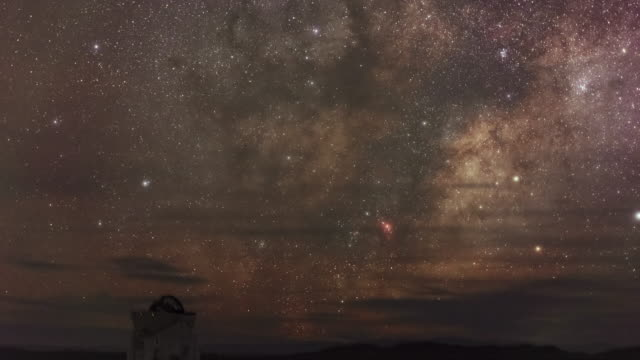 the milky way - cerro paranal stock videos and b-roll footage