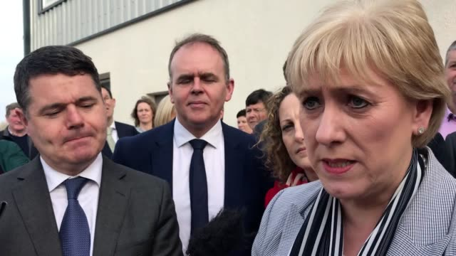 the minister for business, enterprise and innovation, heather humphreys and minister for finance and public expenditure and reform, pascal donohoe,... - reform stock-videos und b-roll-filmmaterial