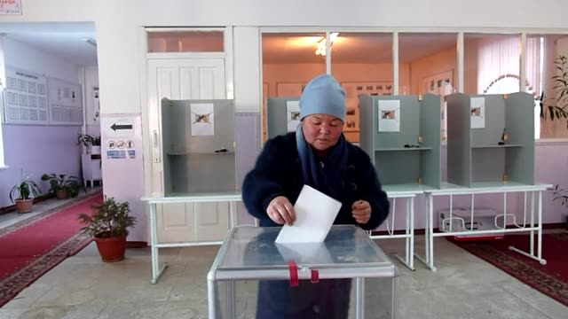the moderate premier of kyrgyzstan claimed a crushing victory monday in a presidential ballot that was marred by fraud allegations and haunted by... - last stock videos & royalty-free footage