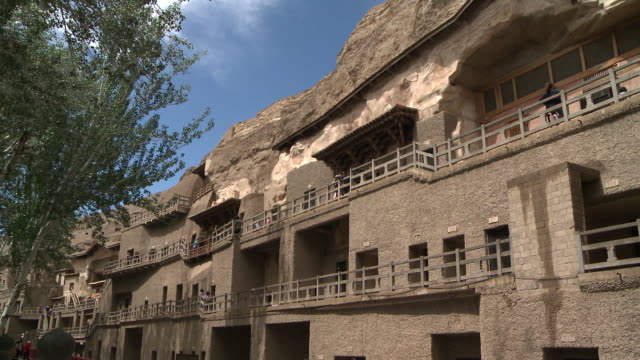 The Mogao Caves also known as the Thousand Buddha Grottos