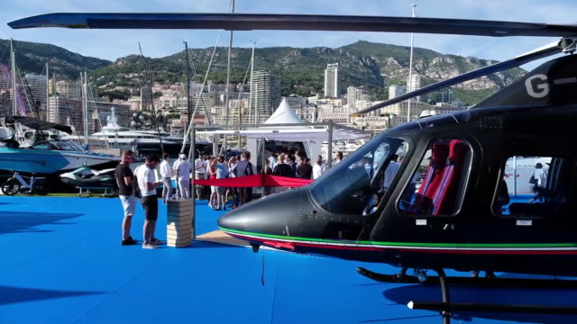 the monaco yacht show in port hercules monaco on wednesday sept 25 2019 - luxury stock videos & royalty-free footage