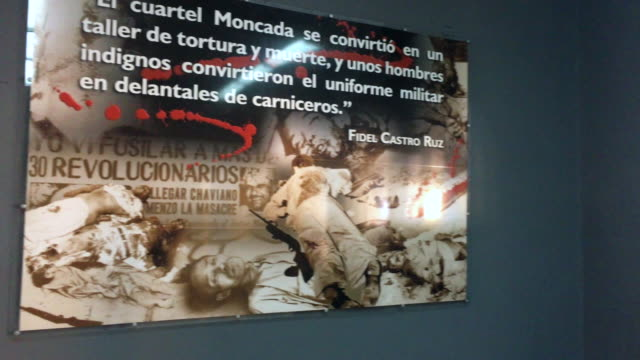 vidéos et rushes de the moncada military barracks or cuartel moncada is a cuban national monument displaying the history of the military action led by fidel castro in... - révolution cubaine