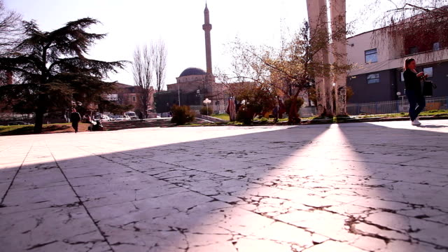 the monument of unity and brotherhood - pristina stock videos and b-roll footage