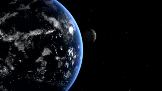 the moon above earth in space - moon stock videos & royalty-free footage
