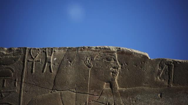 The moon and Ancient Egyptian hieroglyphics