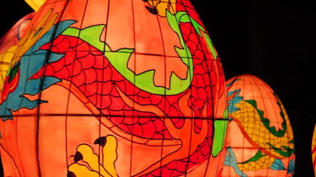 stockvideo's en b-roll-footage met the moon festival lantern - chinees nieuwjaar