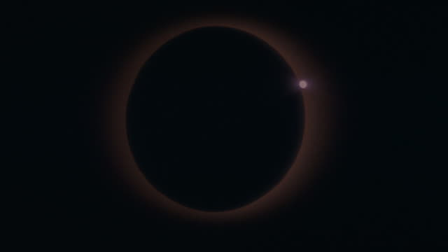 The moon transits the sun in a full solar eclipse.