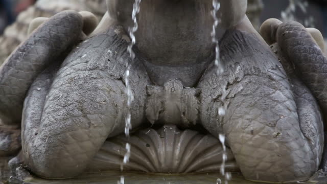 the moro fountain masterpiece in rome - greek mythology stock videos and b-roll footage