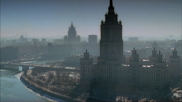 the moskva river flows through moscow. - red square stock videos & royalty-free footage