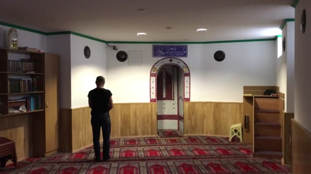 "the mosque in vienna, which was shut down by the austrian government, reopened after the mosque association overcome some shortcomings. ""we were... - austria stock videos & royalty-free footage"