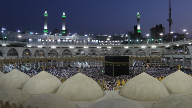 the most famous mosque in the world - mecca stock videos and b-roll footage