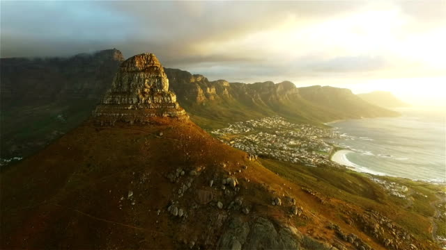 the mountain looks even greater on the other side - cape town stock videos & royalty-free footage