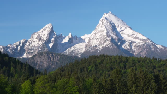 The mountain Watzmann. Watzmann, Berchtesgadener Land, Upper Bavaria, Bavarian Alps, Bavaria, Germany.