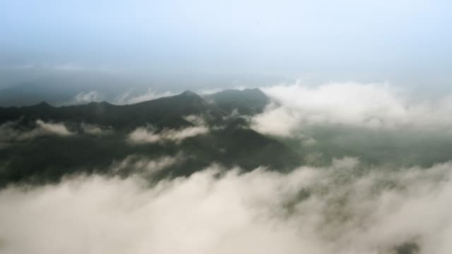 the mountains in the clouds - cirrocumulus stock videos & royalty-free footage