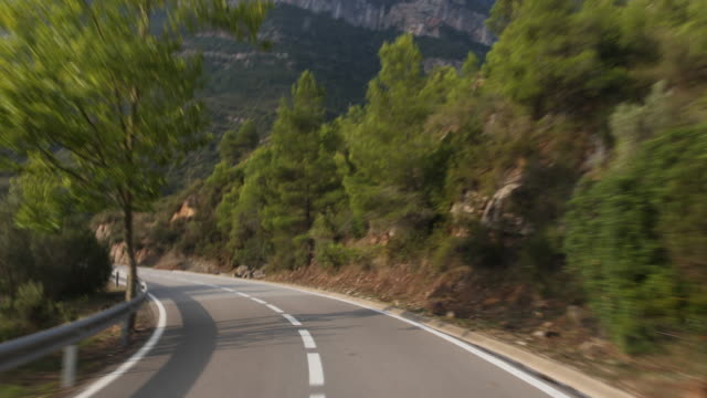 the mountains of montserrat in spain - curvo video stock e b–roll