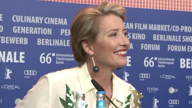 the movie alone in berlin starring actress emma thompson is presented at the german festival berlinale - emma thompson stock videos and b-roll footage
