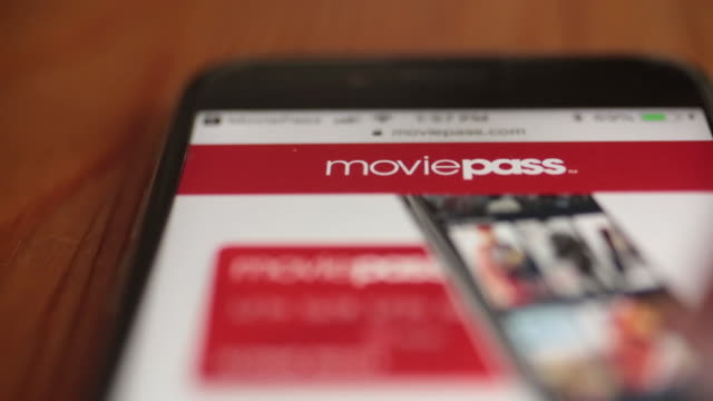 The MoviePass application is displayed on an Apple Inc iPhone in Washington DC US on Friday August 17 2018