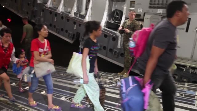 the multi-national force continues the steady stream of relief supplies to devastated areas in adn around the city of tacloban, republic of the... - adn stock videos & royalty-free footage