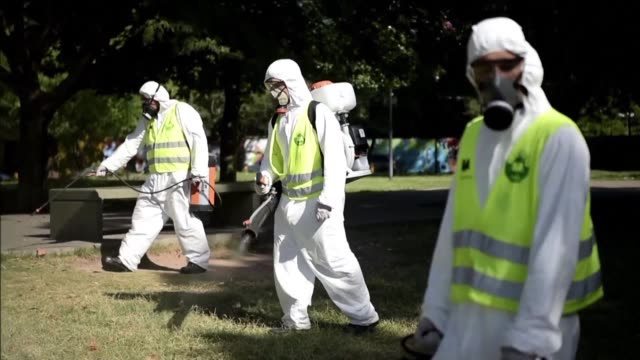 The municipality of Buenos Aires fumigated public parks on Wednesday as the first cases of dengue fever struck the Argentine capital