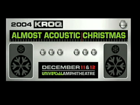 the music at the 2004 kroq almost acoustic christmas at the universal amphitheatre in universal city, california on december 11, 2004. - kroq stock videos & royalty-free footage