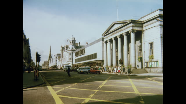 1981 the music hall on union street in aberdeen, scotland - aberdeen schottland stock-videos und b-roll-filmmaterial